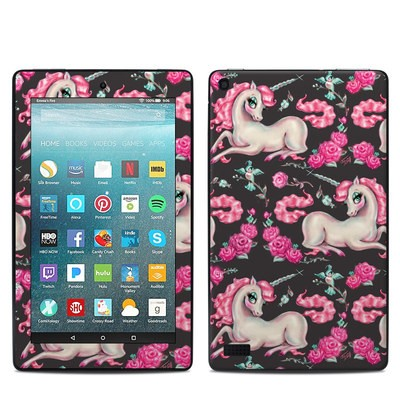Amazon Kindle Fire 7in 7th Gen Skin - Unicorns and Roses