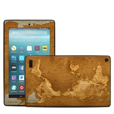 Amazon Kindle Fire 7in 7th Gen Skin - Upside Down Map