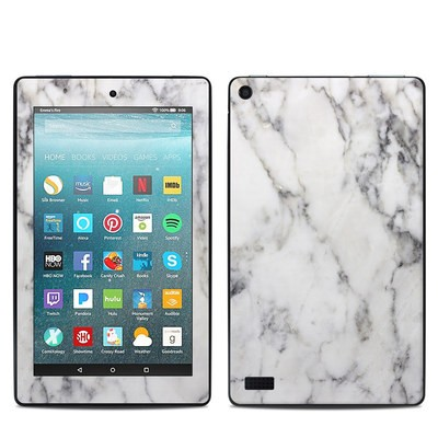 Amazon Kindle Fire 7in 7th Gen Skin - White Marble