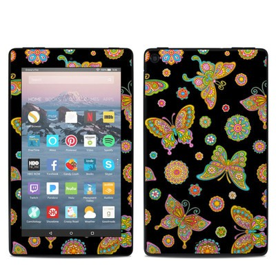 Amazon Kindle Fire 7in 9th Gen Skin - Butterfly Flowers