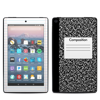 Amazon Kindle Fire 7in 9th Gen Skin - Composition Notebook
