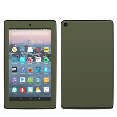 Amazon Kindle Fire 7in 9th Gen Skin - Solid State Olive Drab