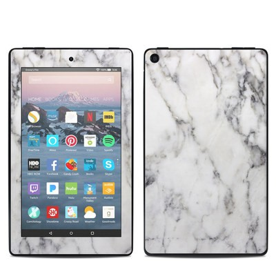 Amazon Kindle Fire 7in 9th Gen Skin - White Marble