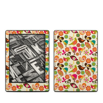 Amazon Kindle 8th Gen Skin - Bird Flowers