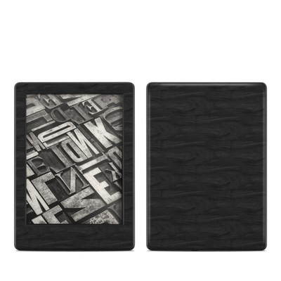 Amazon Kindle 8th Gen Skin - Black Woodgrain