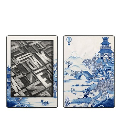 Amazon Kindle 8th Gen Skin - Blue Willow