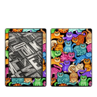 Amazon Kindle 8th Gen Skin - Colorful Kittens