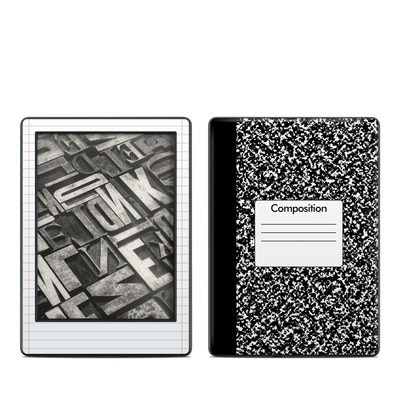 Amazon Kindle 8th Gen Skin - Composition Notebook