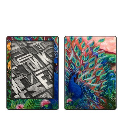 Amazon Kindle 8th Gen Skin - Coral Peacock