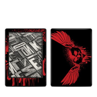 Amazon Kindle 8th Gen Skin - Dark Heart Stains