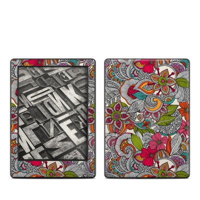 Amazon Kindle 8th Gen Skin - Doodles Color