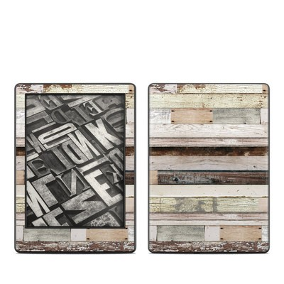 Amazon Kindle 8th Gen Skin - Eclectic Wood