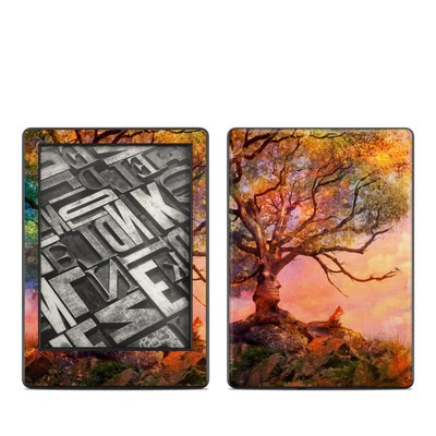 Amazon Kindle 8th Gen Skin - Fox Sunset