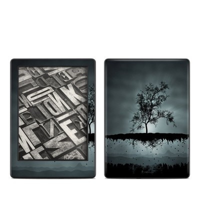 Amazon Kindle 8th Gen Skin - Flying Tree Black