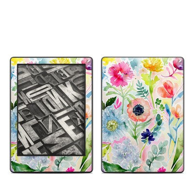 Amazon Kindle 8th Gen Skin - Loose Flowers