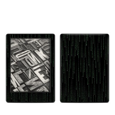 Amazon Kindle 8th Gen Skin - Matrix Style Code