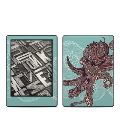 Amazon Kindle 8th Gen Skin - Octopus Bloom