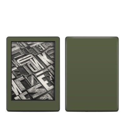 Amazon Kindle 8th Gen Skin - Solid State Olive Drab
