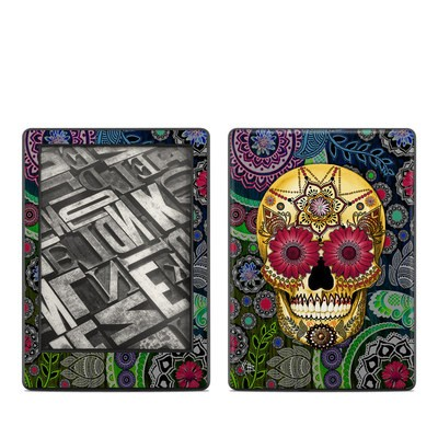Amazon Kindle 8th Gen Skin - Sugar Skull Paisley