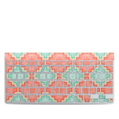 Apple Wireless Keyboard Skin - Coral Diamond