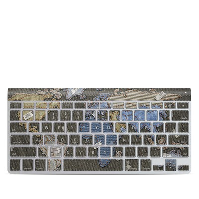 Apple Wireless Keyboard Skin - Jean Map