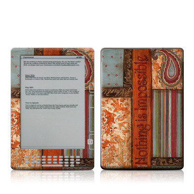 Kindle DX Skin - Be Inspired