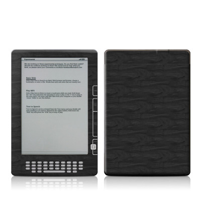 Kindle DX Skin - Black Woodgrain