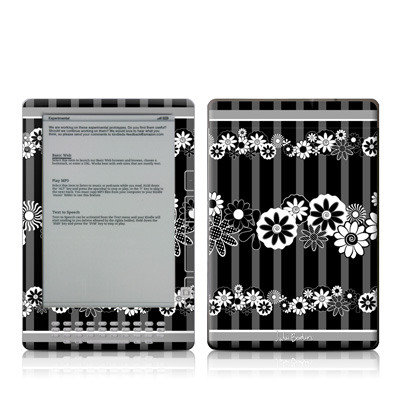 Kindle DX Skin - Black Retro