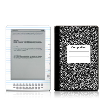 Kindle DX Skin - Composition Notebook