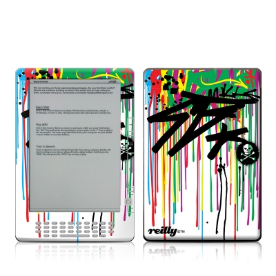 Kindle DX Skin - Colour Rain