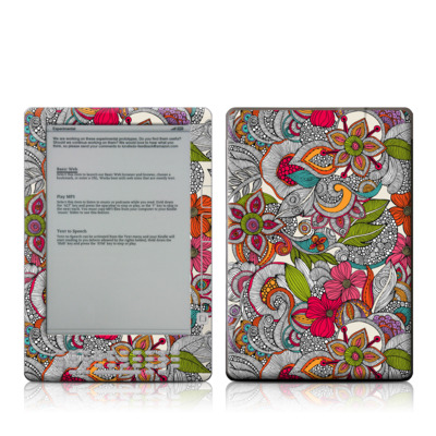 Kindle DX Skin - Doodles Color