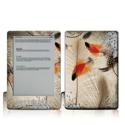 Kindle DX Skin - Feather Dance