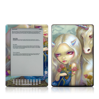 Kindle DX Skin - Fiona Unicorn