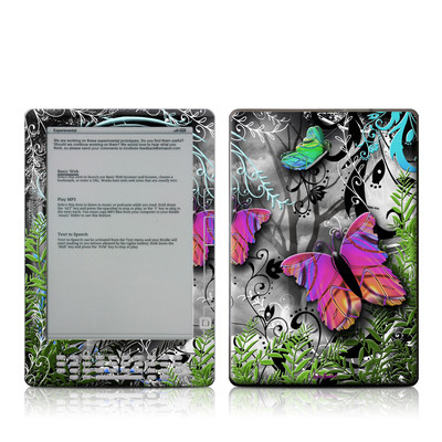 Kindle DX Skin - Goth Forest