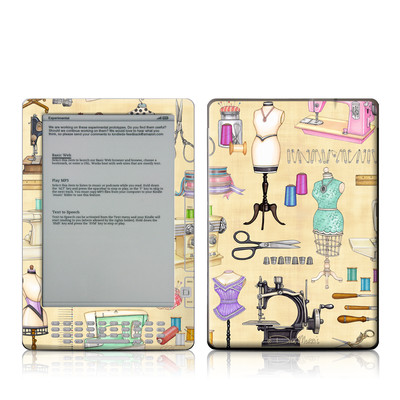 Kindle DX Skin - Haberdashery