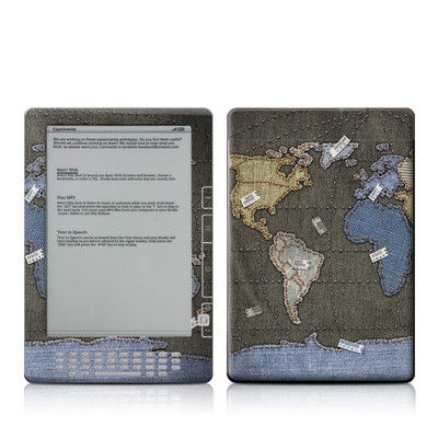 Kindle DX Skin - Jean Map
