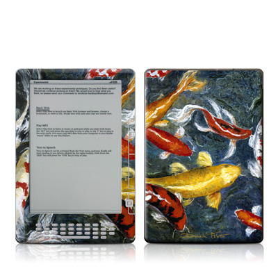Kindle DX Skin - Koi's Happiness
