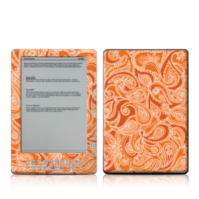 Kindle DX Skin - Paisley In Orange