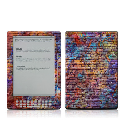 Kindle DX Skin - Painted Brick