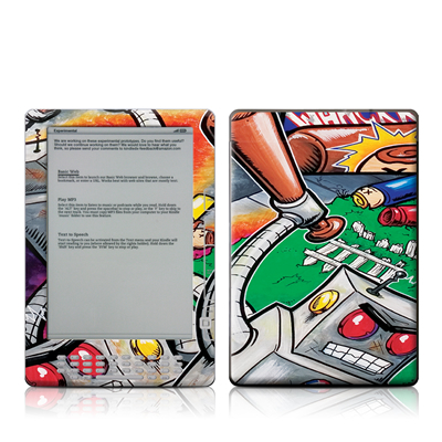 Kindle DX Skin - Robot Beatdown