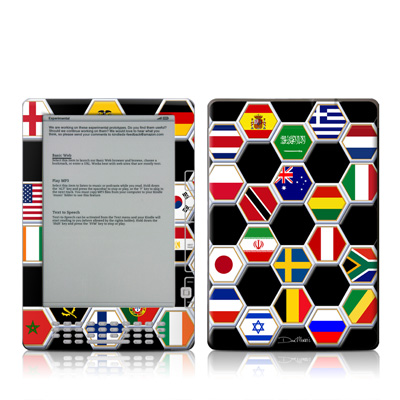 Kindle DX Skin - Soccer Flags