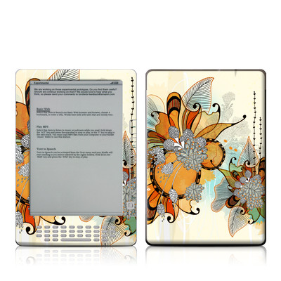 Kindle DX Skin - Sunset Flowers