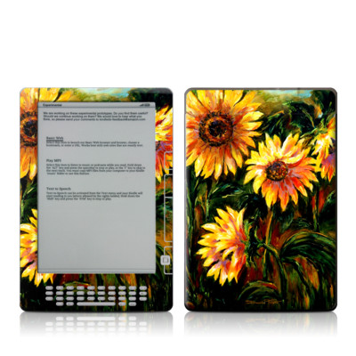 Kindle DX Skin - Sunflower Sunshine
