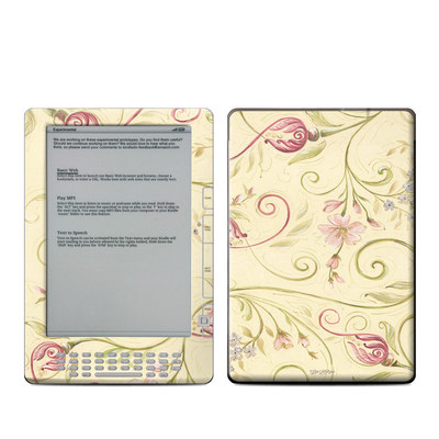 Kindle DX Skin - Tulip Scroll