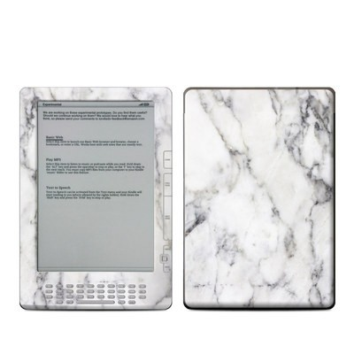 Kindle DX Skin - White Marble
