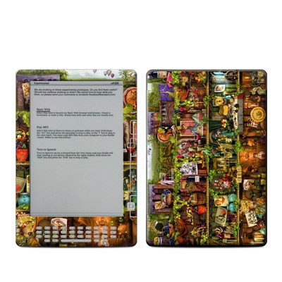 Kindle DX Skin - Wine Shelf