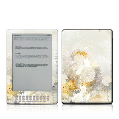 Kindle DX Skin - White Velvet