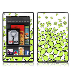 Kindle Fire Skin - Daisy Field - Green