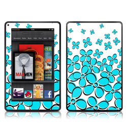 Kindle Fire Skin - Daisy Field - Teal