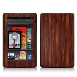 Kindle Fire Skin - Dark Rosewood